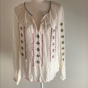 GAP Embroidered Peasant Blouse
